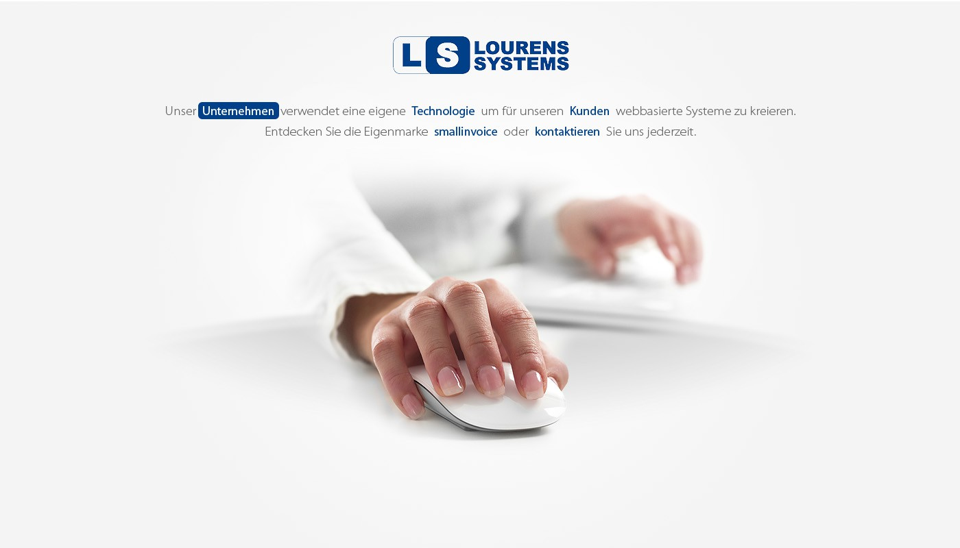 Slick, simple and clean website for Lourens Systems (the smallinvoice guys)
