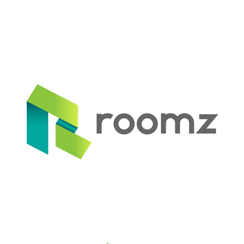 Simple, world-class logo for roomz