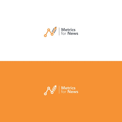 Logo for metric for news company