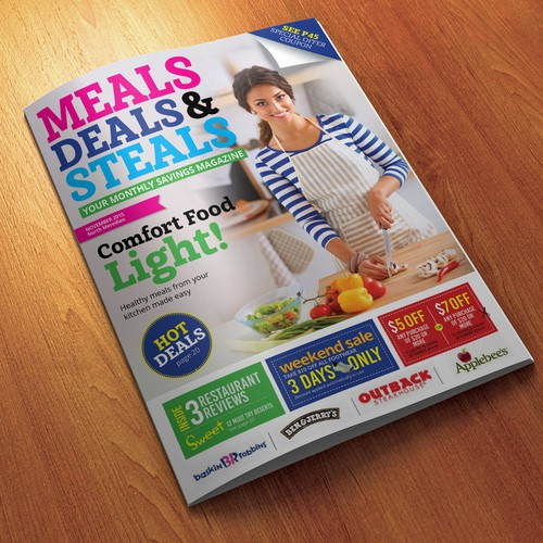 Meals deals & steals cover design