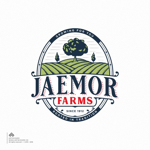 Vintage Logo Proposal for Jaemor Farms