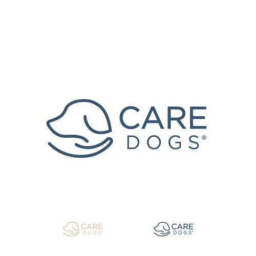 Dog care company logo.