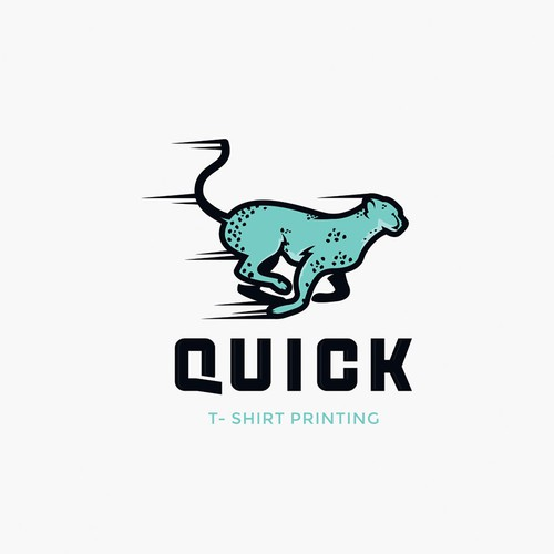 Logo for t-shirt printing company.