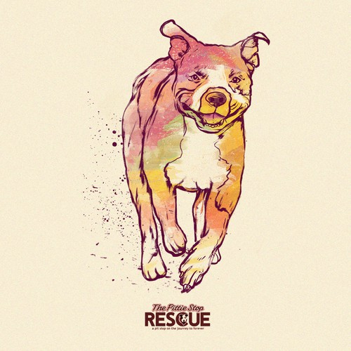 Pit bull on rescue