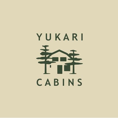 Logo concept for forest cabin rentals