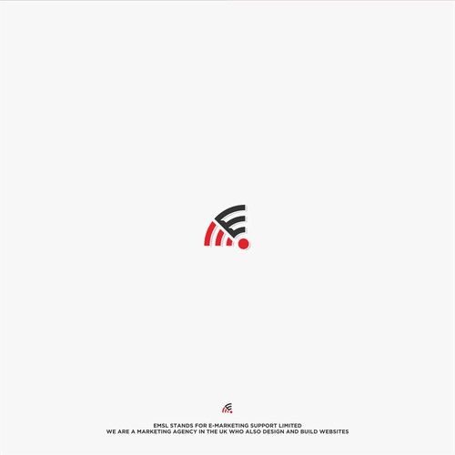 """E"" logo design communication"