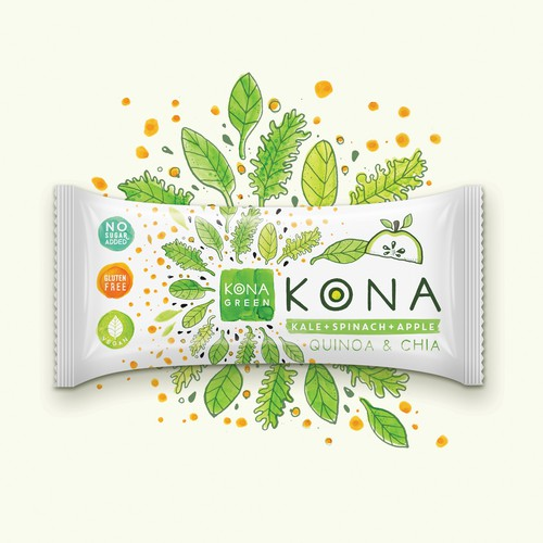 Branding for  KONA  nutrition bars