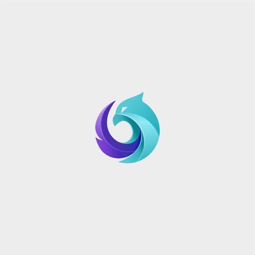 Logo design / Blue phoenix logo