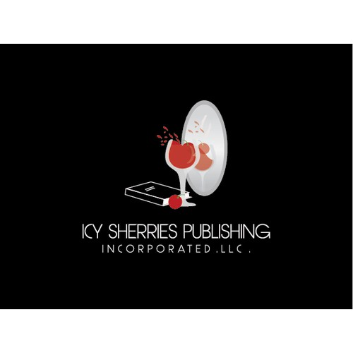 Create the official logo for noir writing company Icy Sherries Publishing, Incorporated LLC