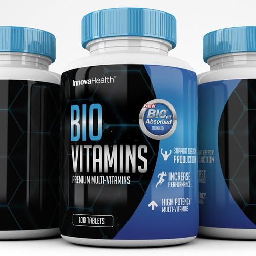 Vitamins Label design