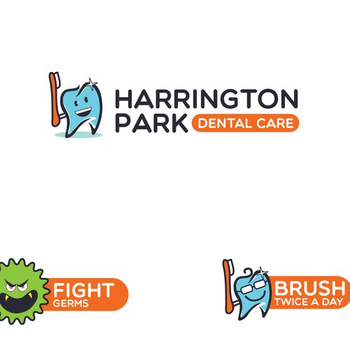 Logo design for kids dental care