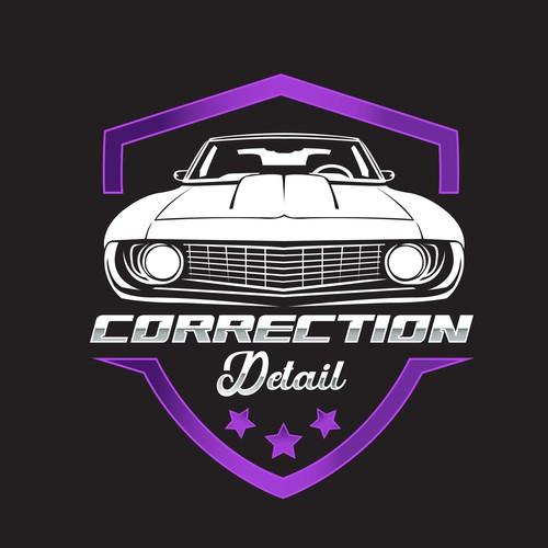 Design a head turner logo for a car detailing company