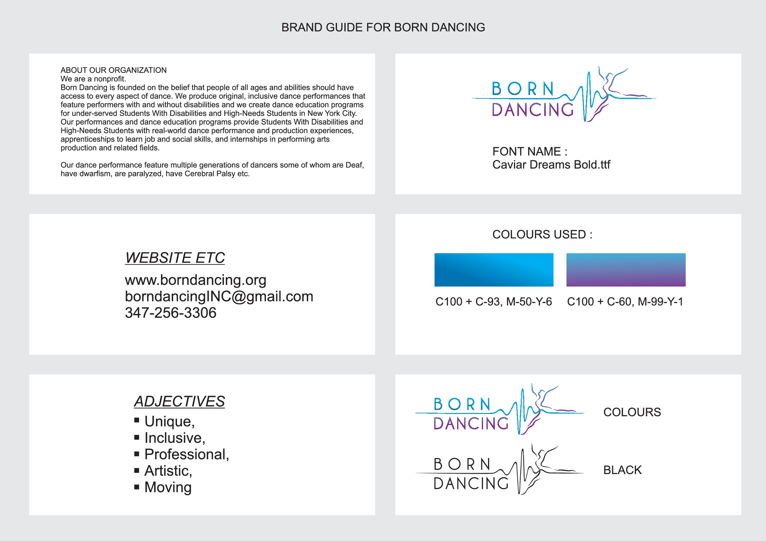 Standout logo for company of dancers with and without disabilities
