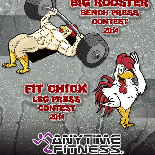 Anytime Fitness BIG Rooster/ FIT Chick Poster