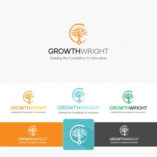 GgowthWright Logo Design