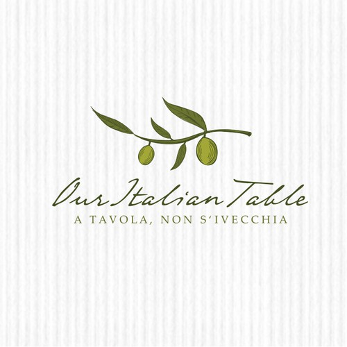 Logo design concept for an Italian food blog.