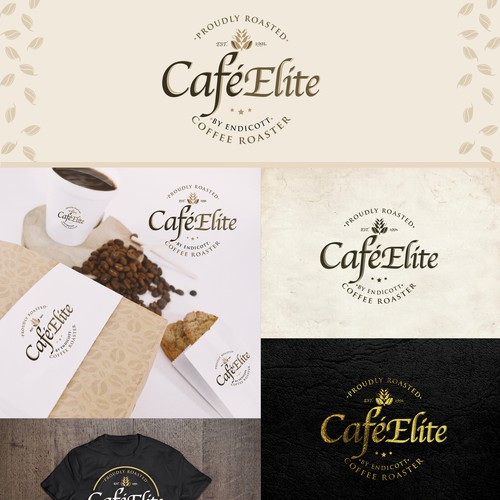 cafe'Elite Logo designs
