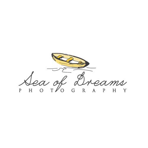 sketchy boat - professional photographer logo
