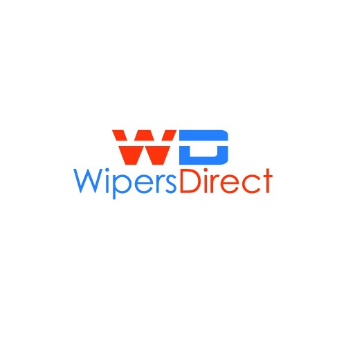 Simple logo for wiperdirect, an ecomm site that sells only windshield wipers