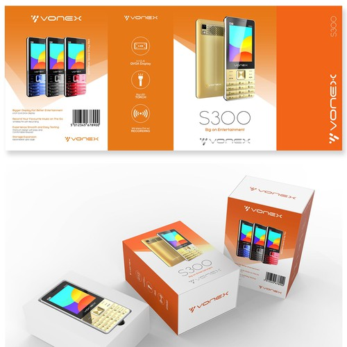 Packaging Design and Rendering for Mobile phone