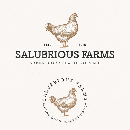 Logo design and brand identity pack for Salubrious Farms.