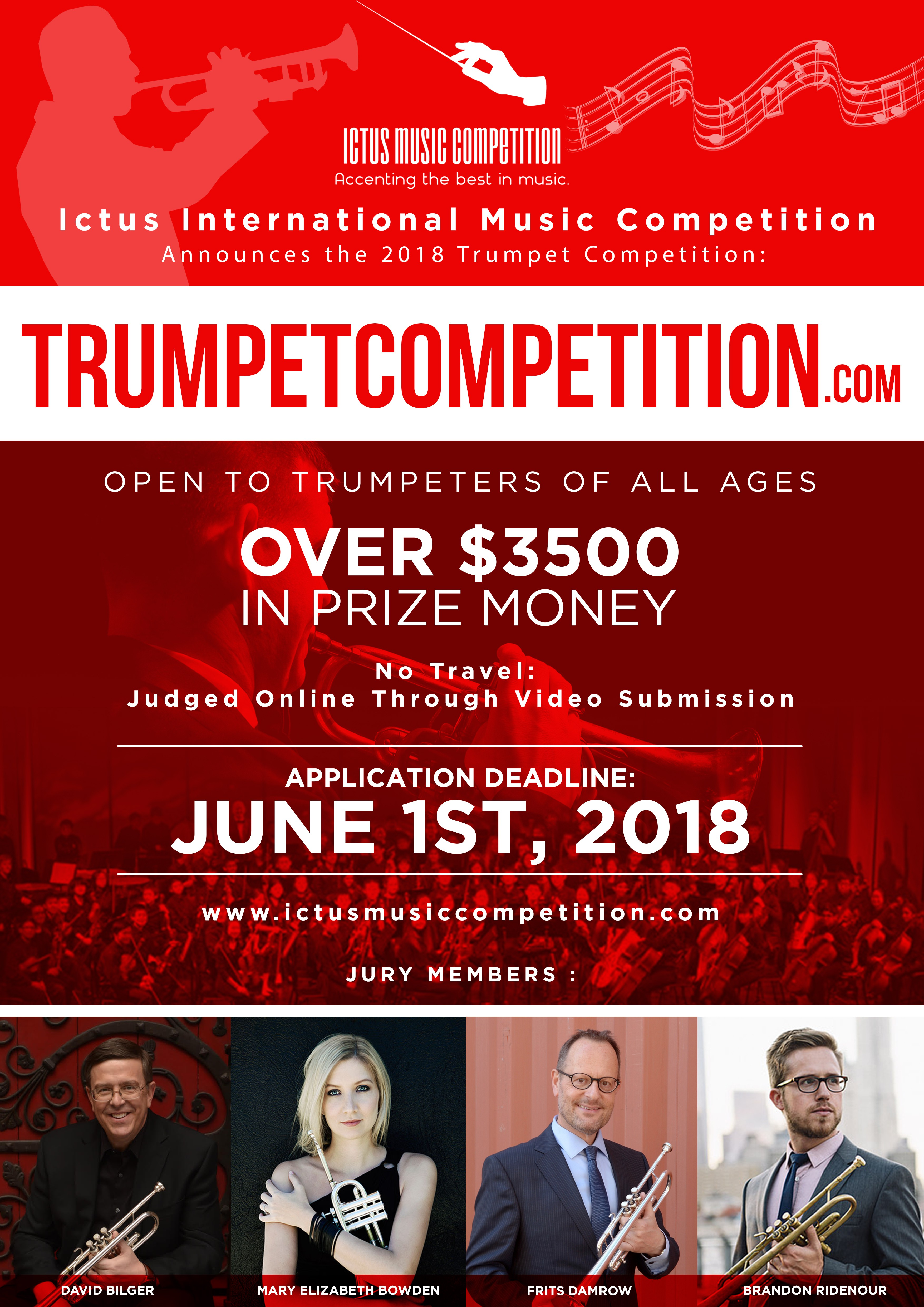 New Major International Trumpet Competition with Renowned Panel of Judges