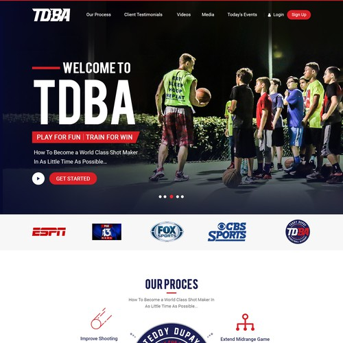 Children Basketball Academy Web Site Re-Design