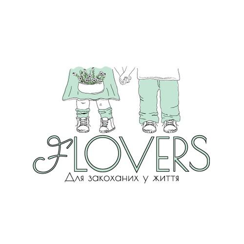 Logo for a flowershop