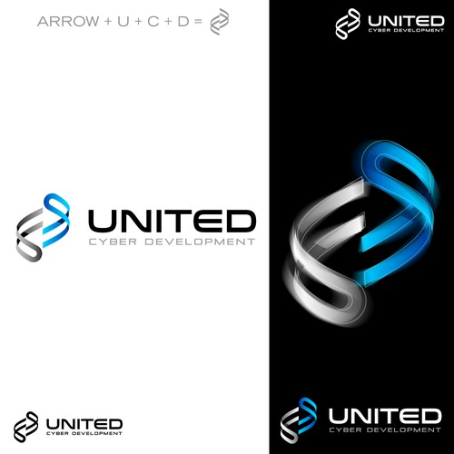 Modern logo for United Cyber Development.