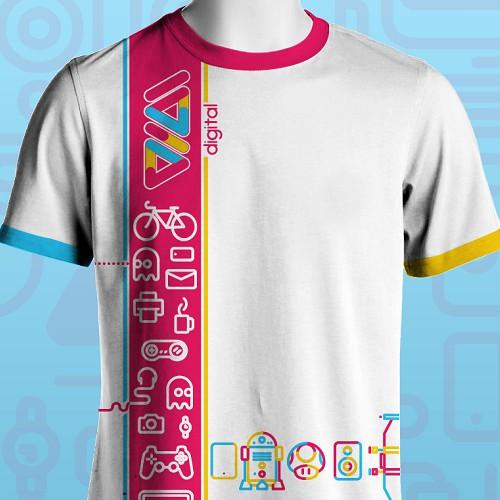 Colourful T-shirt design