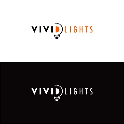 logo concept for Vivid Lights