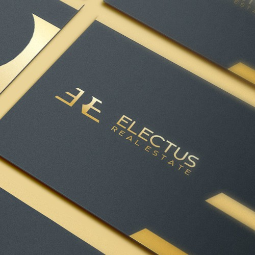 Simple, Clean and powerful Monogram Logo design for Electus Real Estate