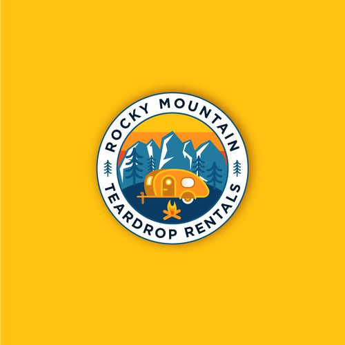 Teardrop trailers rental company logo