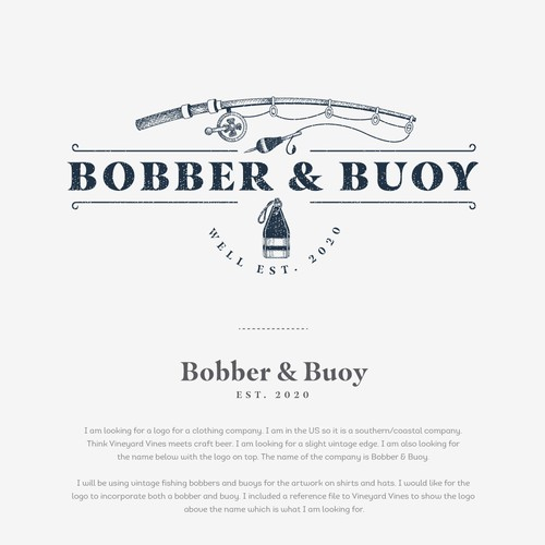 Logo design for BOBBER & BUOY