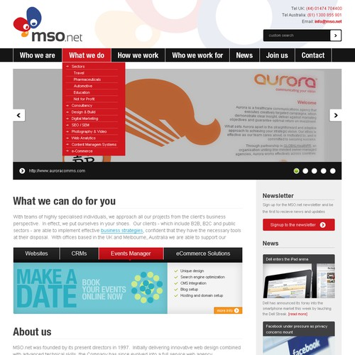 Internet agency need stunning new website redesign
