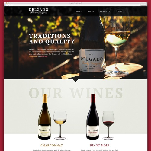 Delgado Family Vineyard website