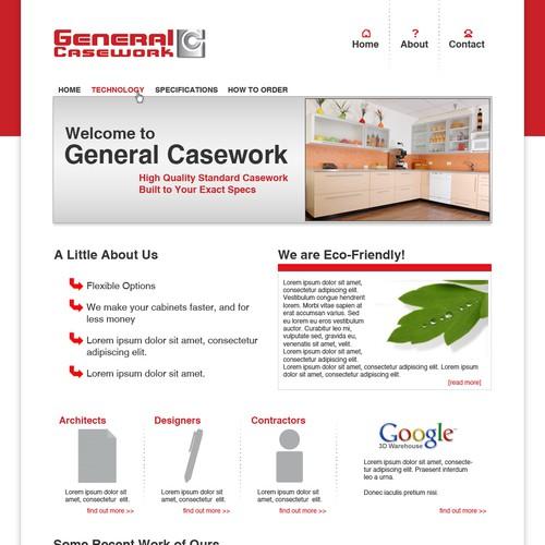Website Design: Professional Cabinet Manufacturer