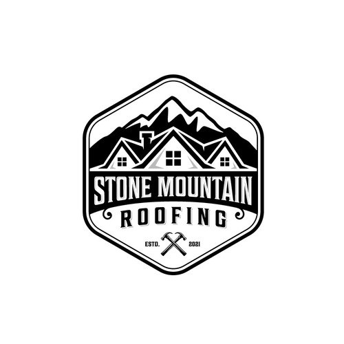 Modern logo concept for Stone Mountain Roofing