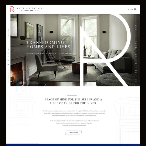 Website for a Real Estate Investment Company