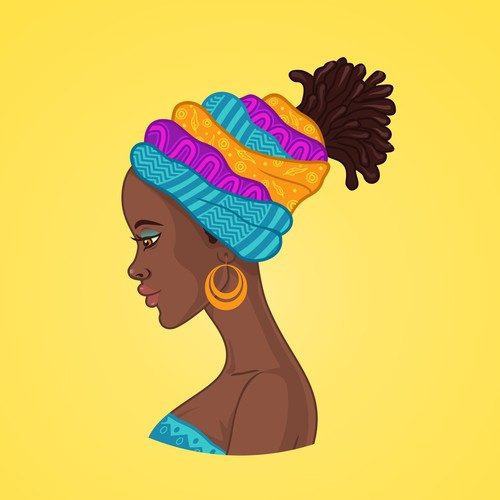 African woman culture illustration