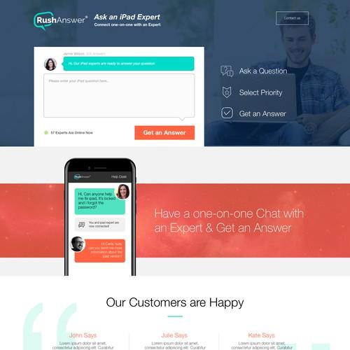 Website Design for RushAnswer