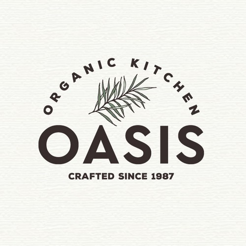 Logo for organic food produce and store