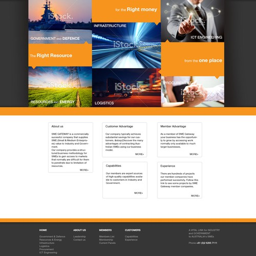 Create a company website for CI Solutions Pty Ltd