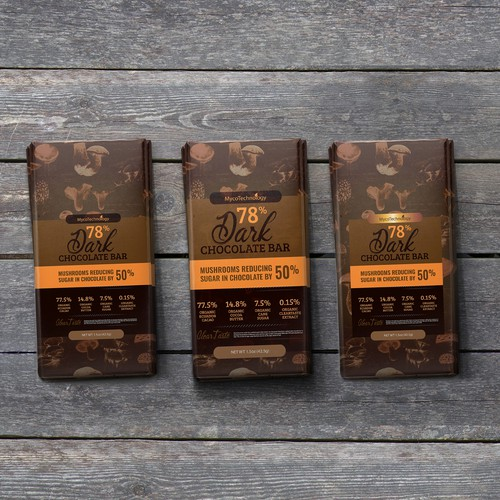 Dark Chocolate Packaging design