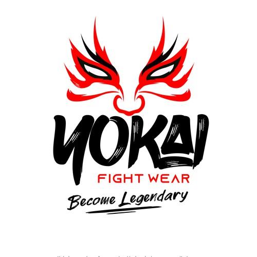 Bold logo for fight wear company