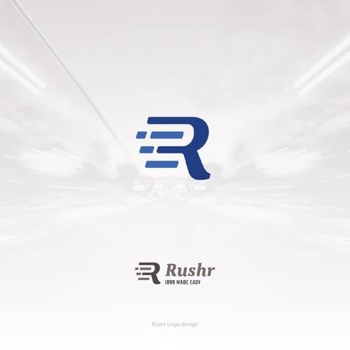 Rushr Logo Design