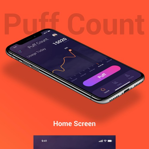 Modern App Design for Puff Counting