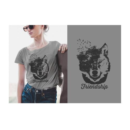 Create a stylish t-shirt design for social company