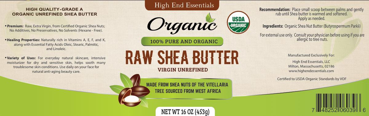 Shea Butter Label Work