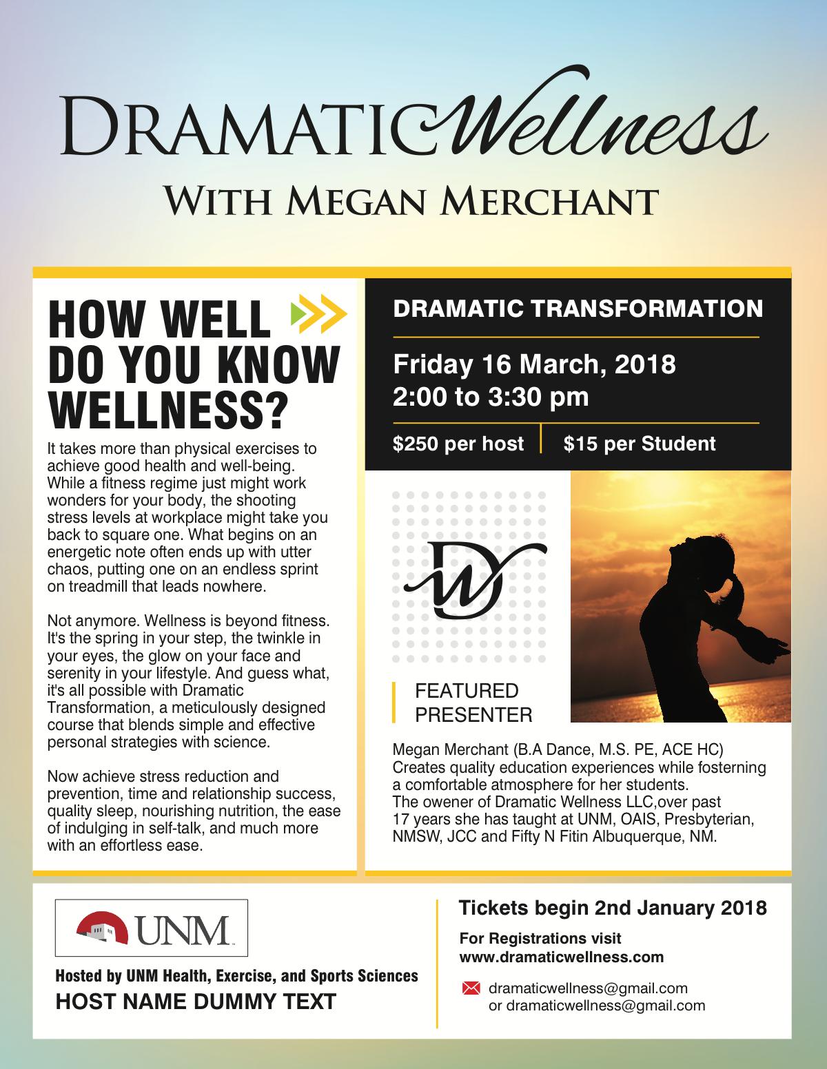 Class Flyer for Host Organizations